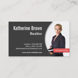 Real estate business cards zazzle modern professional realtor real estate photo business card flashek Image collections