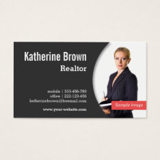 Modern, Professional, Realtor, Real Estate, Photo Business Card at Zazzle