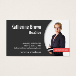 Real estate business cards zazzle modern professional realtor real estate photo business card colourmoves