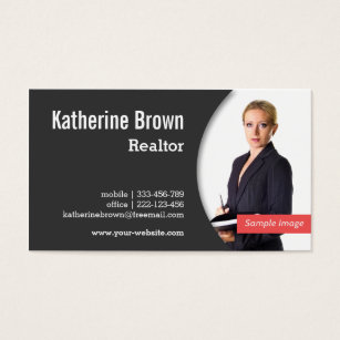 Realtor business cards realtor business card templates modern professional realtor real estate photo business card wajeb Images