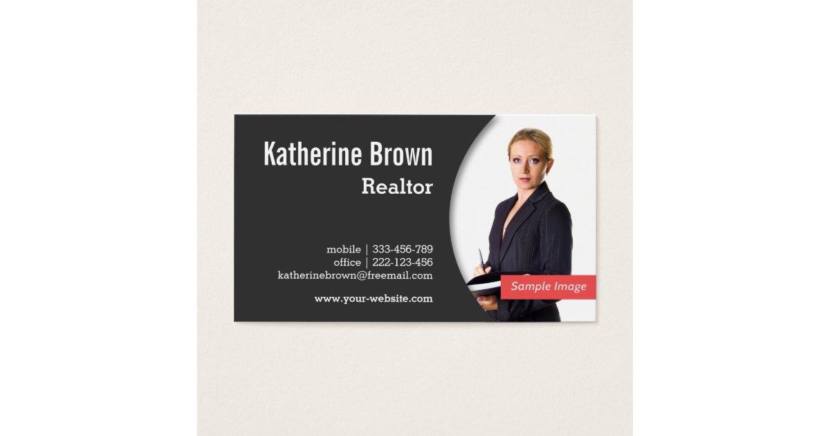 Modern professional realtor real estate photo business for Modern real estate business cards