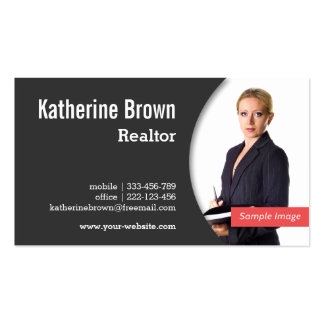 Modern, Professional, Realtor, Real Estate, Photo Double-Sided Standard Business Cards (Pack Of 100)
