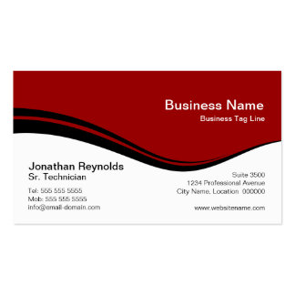Modern Professional Red Business Cards