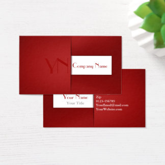 Modern Professional Red Case - Business Card
