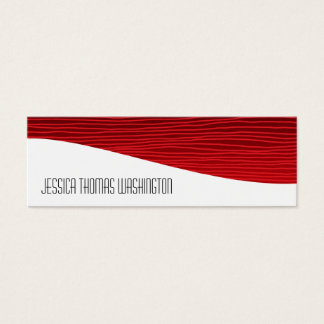 Modern Professional Red Slim Business Cards