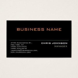 Modern Professional Rich Black Business Card