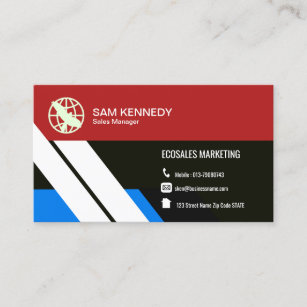 Modern Professional Simple Marketing Manager Business Card