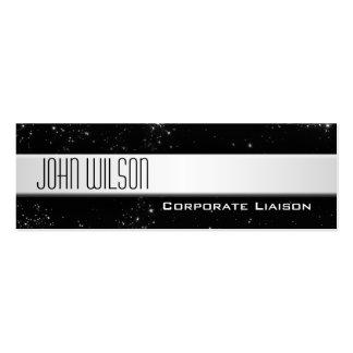 Modern Professional Slim Line Black Business Cards
