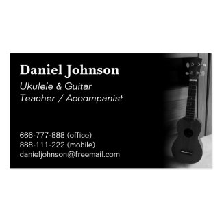 Modern, Professional, Ukulele and guitar teacher Double-Sided Standard Business Cards (Pack Of 100)