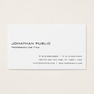 Modern Professional White Elegant Simple Plain Business Card