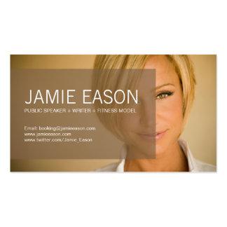 Modern Profile Card - Jamie Eason Business Cards
