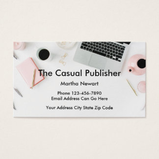Modern Publisher Businesscards Business Card