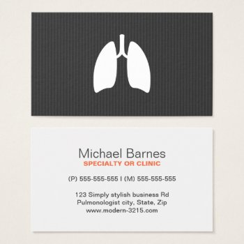 Browse products at zazzle with the theme pulmonary medicine modern pulmonology pulmonologist lungs minimalist business card reheart Choice Image