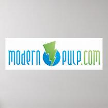 Modern Pulp Logo Poster