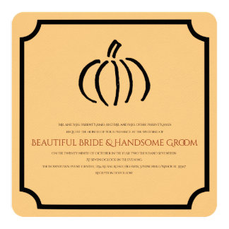 Modern Pumpkin Wedding Invitation