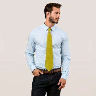 Modern Pure Gold  Pasmore Ripple Pattern Woven Neck Tie