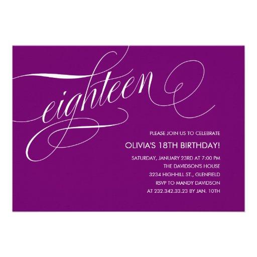 Eighteenth Birthday Invitations was adorable invitation layout