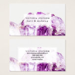 "Modern purple agate amethyst stone business card<br><div class=""desc"">Modern purple agate amethyst stone</div>"