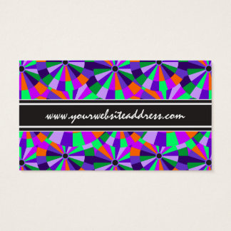 Modern Purple and Green Futurist Circles Business Card