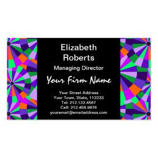 Modern Purple and Green Futurist Circles Business Card