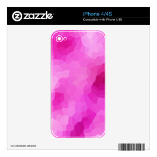 Modern Purple and Pink Stained Glass Mosaic iPhone 4S Decal