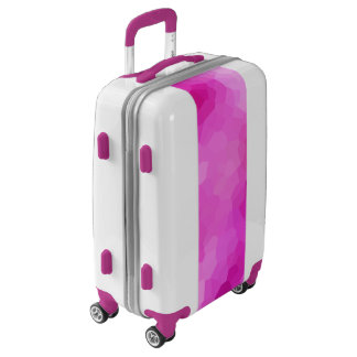 Modern Purple and Pink Stained Glass Mosaic Luggage