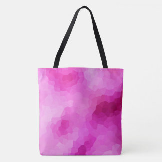 Modern Purple and Pink Stained Glass Mosaic Tote Bag