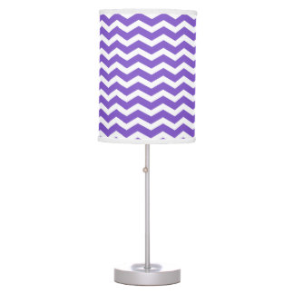 Modern Purple and White Chevron Table Lamp