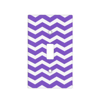 Modern Purple and White Chevron Switch Plate Covers