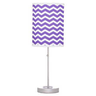 Modern Purple and White Chevron Table Lamp