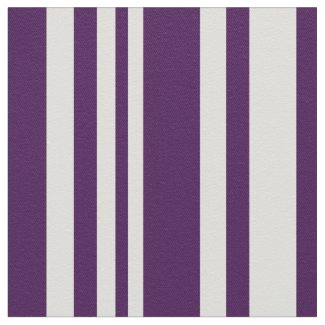 Modern Purple and White Stripes Fabric