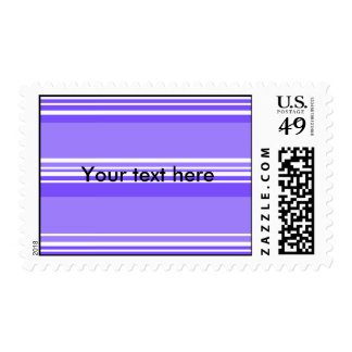 Modern purple and white stripes stamps