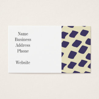 Modern Purple Blue Abstract Squares Wild Animal Business Card