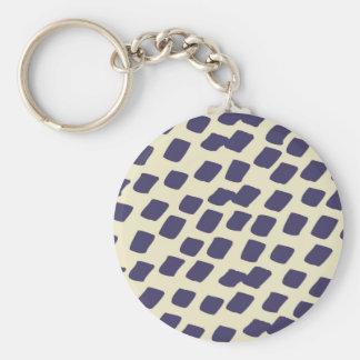 Modern Purple Blue Abstract Squares Wild Animal Keychain