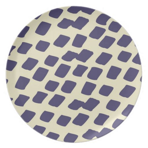 Modern Purple Blue Abstract Squares Wild Animal Party Plates