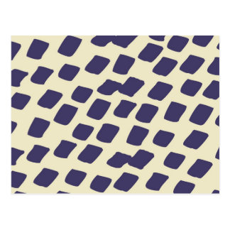 Modern Purple Blue Abstract Squares Wild Animal Postcard