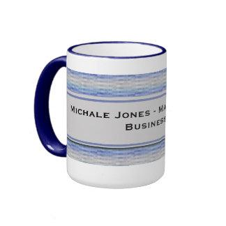 Modern Purple Blue Gray Squares Mugs