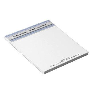 Modern Purple Blue Gray Squares Notepad