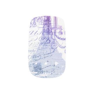modern purple chandelier paris eiffel tower minx® nail wraps