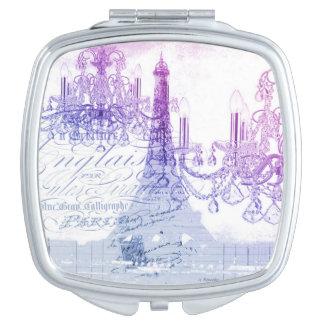 modern purple chandelier paris eiffel tower mirrors for makeup