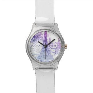 modern purple chandelier paris eiffel tower wristwatch