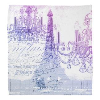 modern purple chandelier paris eiffel tower bandana