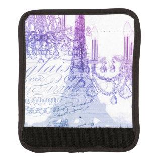 modern purple chandelier paris eiffel tower luggage handle wrap