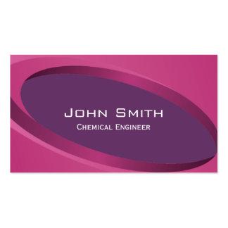 Modern Purple Chemical Engineer Business Card