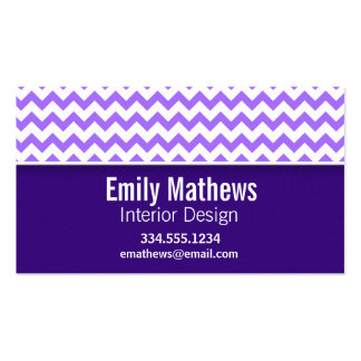 Modern Purple Chevron Business Card Templates