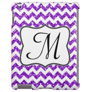 Modern Purple Chevron Girly Monogram IPAD Case