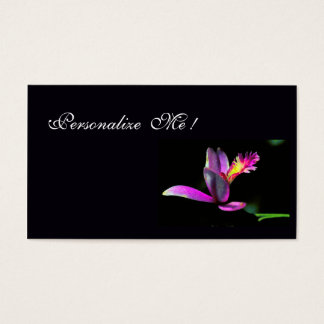Modern Purple Chic Orchid Floral / House-of-Grosch Business Card