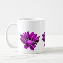 Modern Purple Chrysanthemums Mug