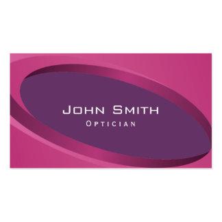 Modern Purple Curves Optician Business Card