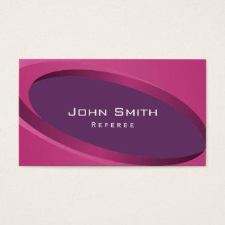 Modern Purple Curves Referee Business Card